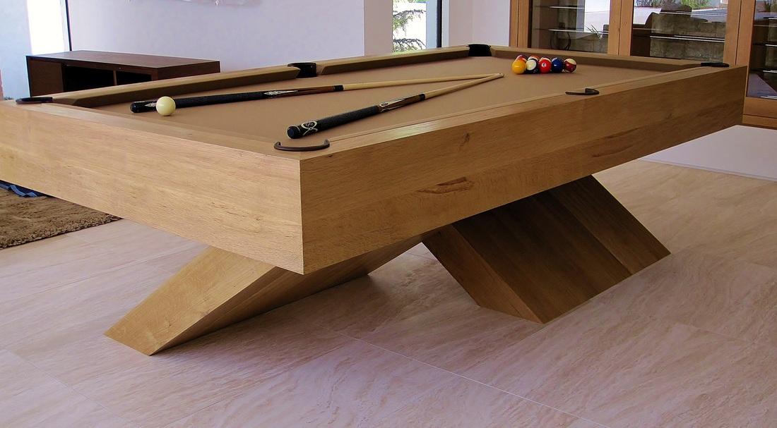 Contemporary Four Leg Pool Table